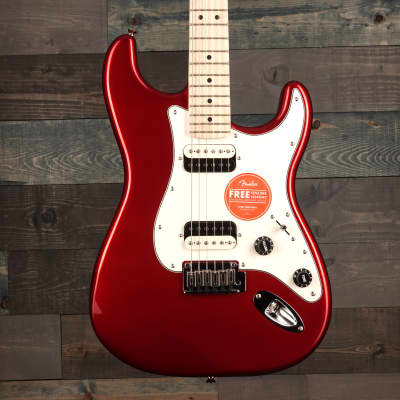 Fender Squier Contemporary Stratocaster HH, Maple Fingerboard, Dark Metallic Red for sale