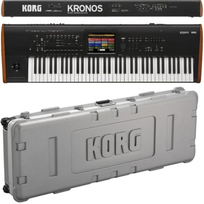 Korg Kronos 2 73 Workstation 73 Tasti Ultimo Pezzo Da Esposizione + Hard Case Korg Bundle