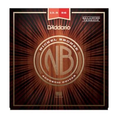 D'Addario NB13556BT Nickel Bronze Acoustic Strings, Balanced Tension Medium, 13.5-56
