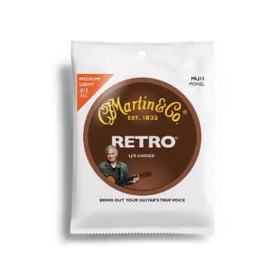 Martin Strings,Retro,6 Str, Medium,Monel Wd for sale