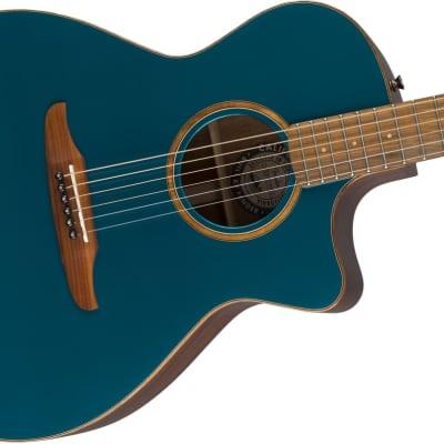 Fender California Series Newporter Classic Acoustic Guitar Cosmic Turquoise w/bag - Floor Stock