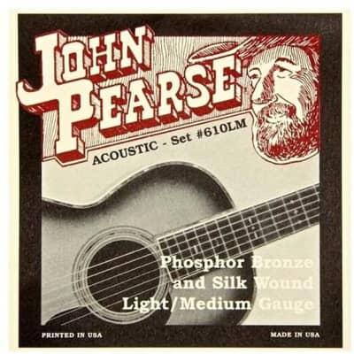 John Pearse 610LM SILKS Acoustic Guitar Strings - Phosphor Bronze & Silk Medium