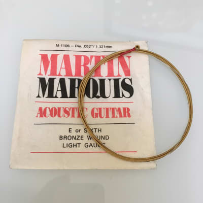 Vintage Martin Marquis Acoustic Guitar String Bronze Wound 0.52