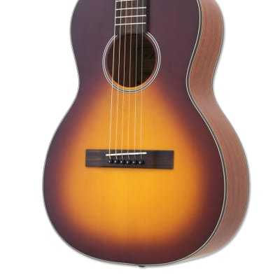Aria ARIA-131 Parlor Guitar Matte Tobacco Burst for sale