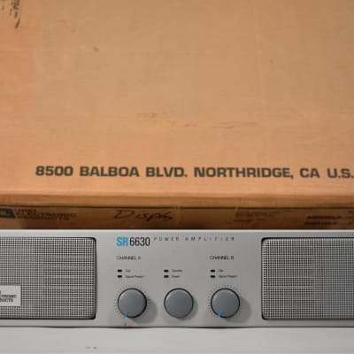 JBL SR6630 Power Amplifier Made In USA