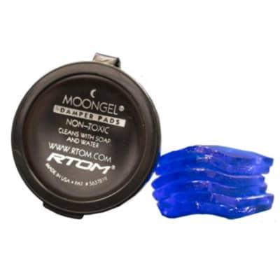 RTOM Moongel MG-4 Drum Damper Pads 6-Pack Blue