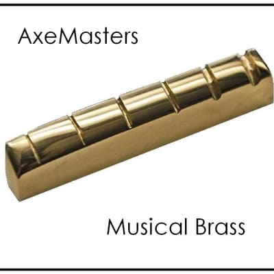 AxeMasters Slotted BRASS NUT handmade for GIBSON JUMBO Acoustic Guitars  J-200