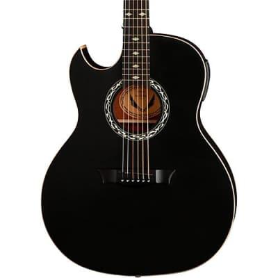 Dean Exhibition Left-Handed Acoustic-Electric Guitar Satin Black