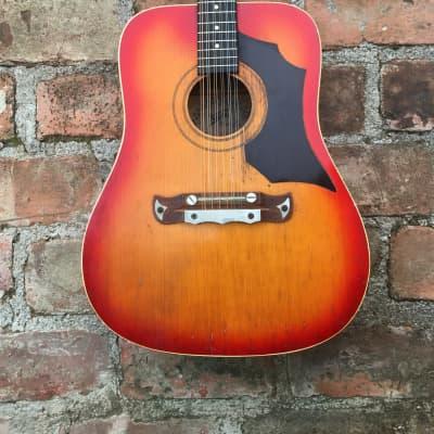 Klira 12 string Jumbo Acoustic Guitar Sunburst for sale