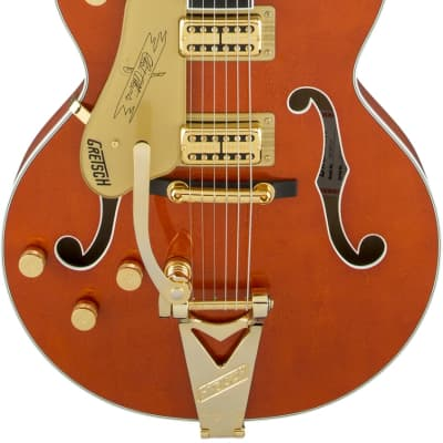 Gretsch G6120TLH Players Edition Nashville Left Handed Electric Guitar with Bigsby. Filter'Tron Pickups, Orange Stain (Brand New - Full Warranty)