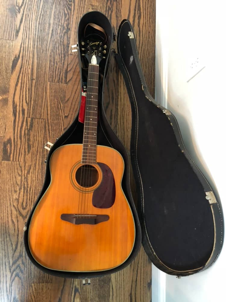 Harmony Sovereign Acoustic Guitar 1969 Natural H1260 With Reverb