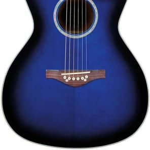 Daisy Rock DR6278 Wildwood Artist Acoustic-Electric Guitar, Royal Blue Burst for sale