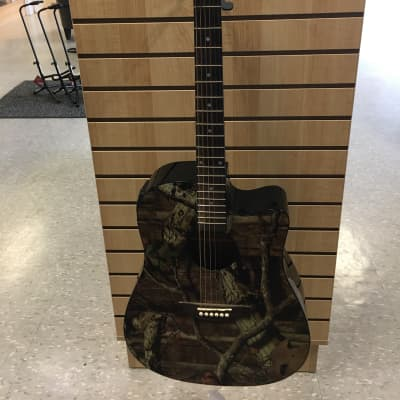 Indiana MO-1CE Mossy Oak Acoustic-Electric Guitar Camo for sale