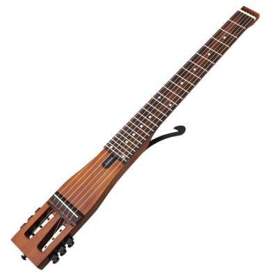 Anygig Travel Guitar Acoustic AGN SE Brown (Left Handed) for sale