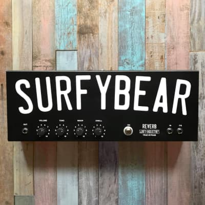 Surfy Industries SurfyBear Metal - Vintage Spring Reverb Pedal - Fast Free Shipping in U.S.!