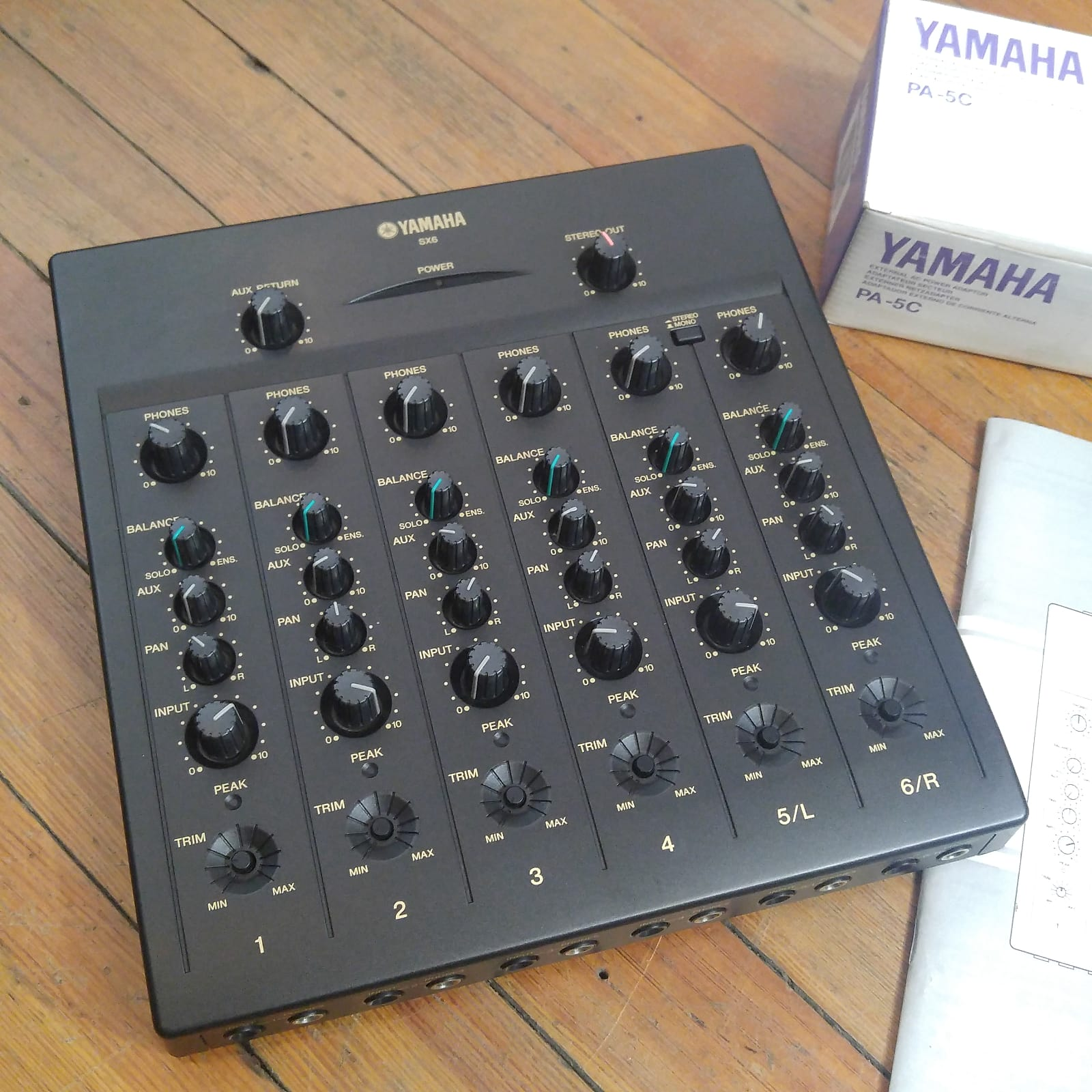 Yamaha SX6 Silent Studio 6 Channel Mixer 1262 W PA 5C Power Supply Manual