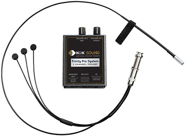 k u0026k sound trinity mini pro guitar pickup system w  mic and