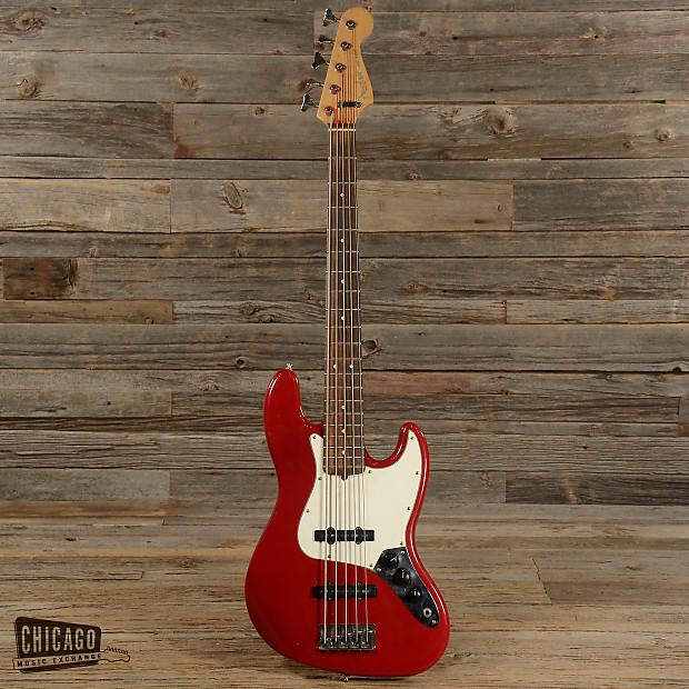 fender american standard 5 string jazz bass candy apple red reverb. Black Bedroom Furniture Sets. Home Design Ideas