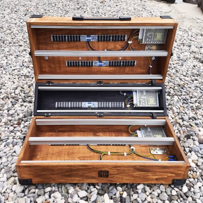 15U 126 hp (84, 104 hp or other) Eurorack Portable case powered, modular synthesizer patched reseal