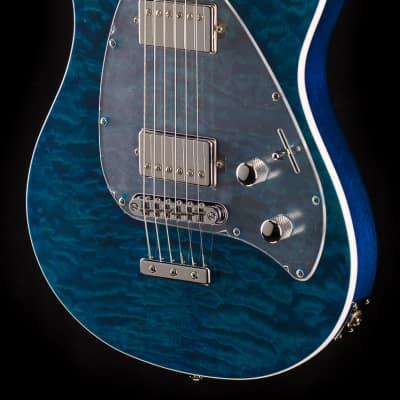 Ernie Ball Music Man Steve Morse HH Tahitian Blue Quilt (180)
