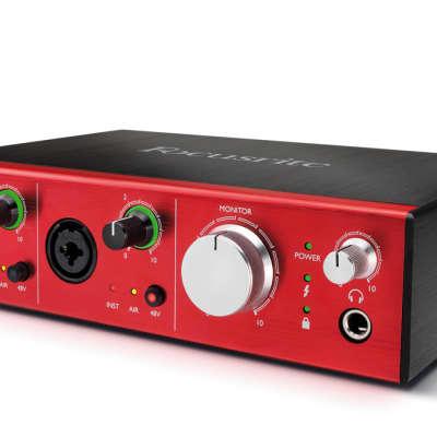 New Focusrite Clarett 2Pre USB 10x4 Desktop Audio Interface, 2 Mic Inputs w/ Free Items*