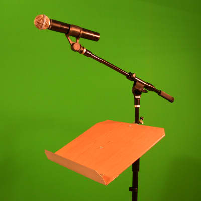 Music Stand Standard Model/ Attachable to Mic Stand/ Desktop Music or Book Stand