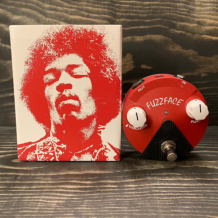 dunlop band of gypsys fuzz face mini with original box reverb. Black Bedroom Furniture Sets. Home Design Ideas