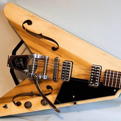 Blast Cult Hollow Vee Electric Guitar - Swamp Cooler Green for sale