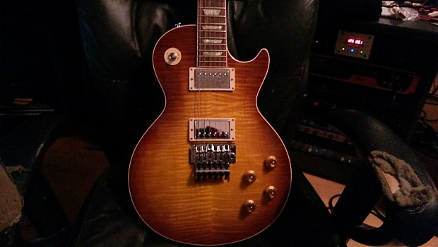 Reduced Gibson Alex Lifeson Les Paul Axcess Viceroy Brown Reverb