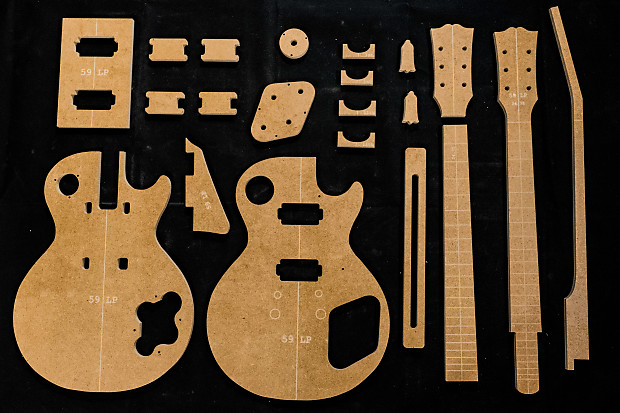 Guitar Templates ~ 59 LP Vintage ~ Poly Coated 1/2\