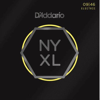 D'Addario NYXL0946 Nickel Wound Super Light Top/Regular Bottom Electric Strings 9-46
