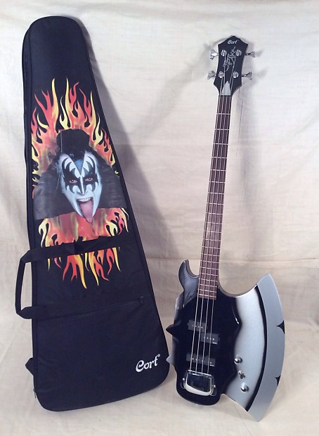 used cort gs axe 2 gene simmons axe electric bass guitar reverb. Black Bedroom Furniture Sets. Home Design Ideas