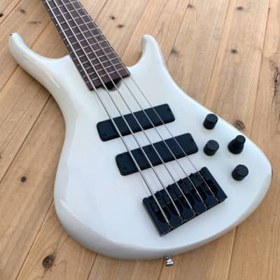 Roscoe LG3005 *lightweight*, White refinish, w/case for sale