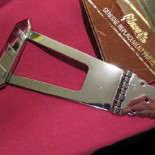 vintage NOS 1970 Gibson es-175 T 1970 chrome tailpiece (also for es 300 335 thinner archtop