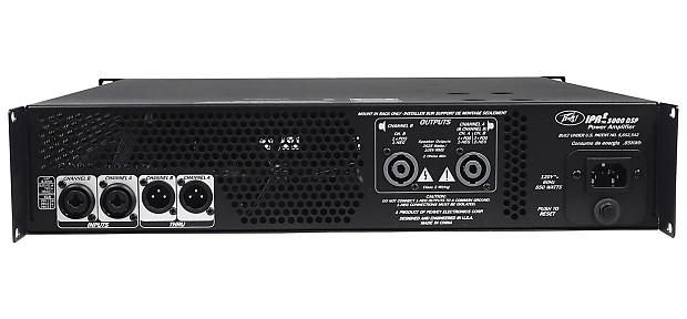 peavey ipr2 5000 dsp 5 050 watt power amp w eq crossover reverb. Black Bedroom Furniture Sets. Home Design Ideas