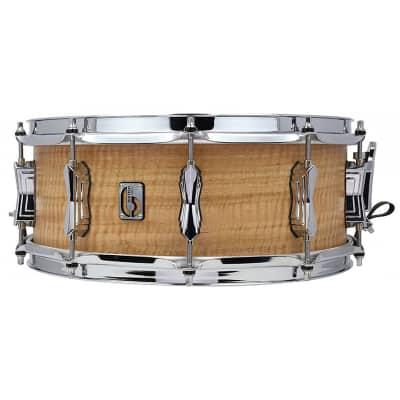 "British Drum Company Maverick 14x5.5"" 10-Lug Maple Snare Drum"