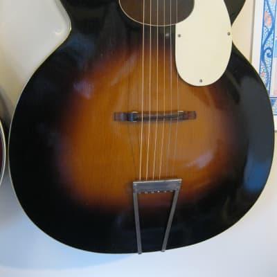 Kay Marveltone  Vintage c.1940 Chicago USA Sunburst Spruce & Maple Oval Soundhole Archtop Guitar. for sale