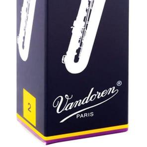 Vandoren SR242 Traditional Baritone Saxophone Reeds - Strength 2 (Box of 5)