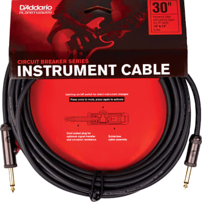 """Planet Waves PW-AGL-30 Circuit Breaker 1/4"""" TS Latching Instrument Cable - 30'"""