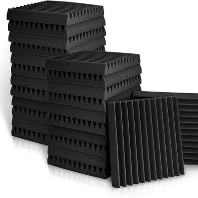 "24 Pack 2"" X 12"" X 12"" Acoustic Panels Foam  Studio Wedge Tiles Sound Panels Wedges Sound Absorbing"