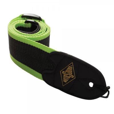 Rotosound Webbing Guitar Strap - Black/Green for sale