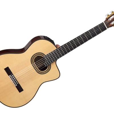 Takamine Guitars TH90 with Hirade Classical with Cutaway Acoustic Guitar - Solid Rosewood/Ebony - TH for sale