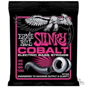 Ernie Ball 2734 Cobalt Super Slinky Electric Bass Strings (45-100)