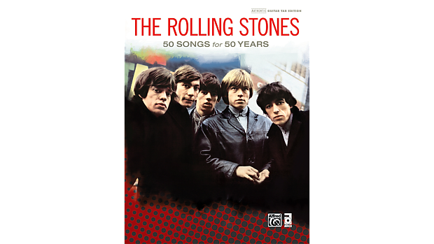 The Rolling Stones: 50 Songs for 50 Years Hardcover Book Guitar Tab, NEW!  #40936