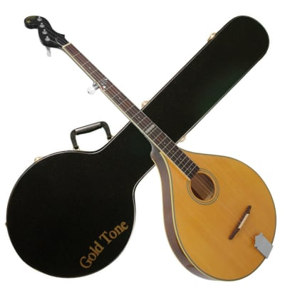 Gold Tone Banjola Solid Spruce Top Acoustic Woodbody Banjo w/Hard Case