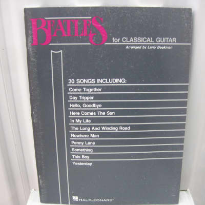 Beatles for Classical Guitar Sheet Music Song Book Songbook