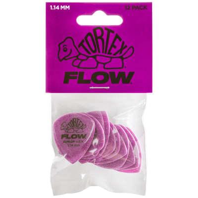 Dunlop Tortex Flow Picks 12-Pack, 558P - 1.14