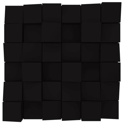 Vicoustic Multifuser Wood 36 MKII | Two-dimensional Diffuser | Box of 1 (Black Matte)
