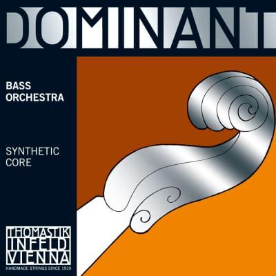 Thomastik-Infeld 197 Dominant Chrome Wound Synthetic Core 3/4 Double Bass Solo String Set - Medium