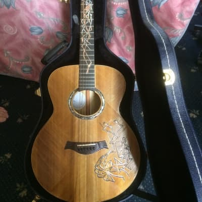 Blueberry Human Celtic design hand made acoustic. 2009 for sale